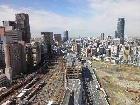大阪・梅田の街並み