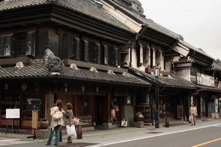 川越の蔵造りの街
