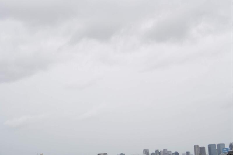 台風19号の影響でお天気が悪い